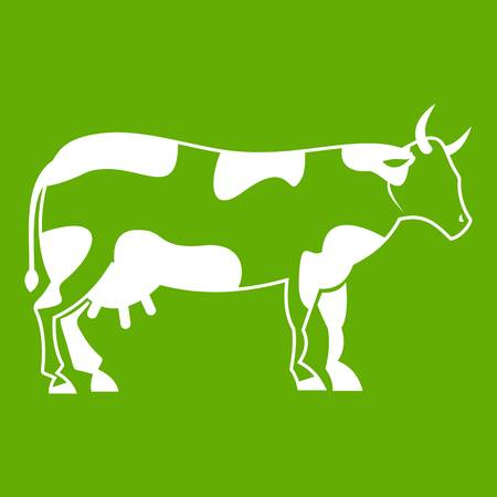 Cow icon green.