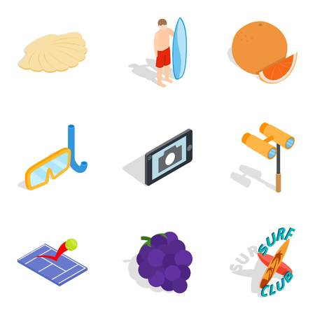 Captivate icons set. Isometric set of 9 captivate vector icons for web isolated on white background