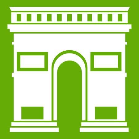 Triumphal arch icon green