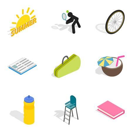 Stripling icons set, isometric style