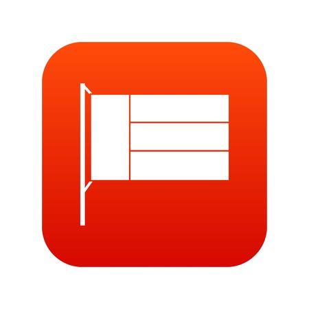 Flag icon digital red