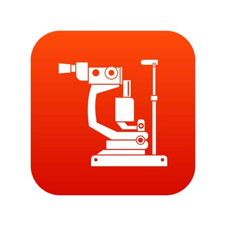 Phoropter icon digital red