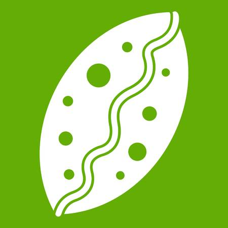 Baked pastry icon illustration on green background.