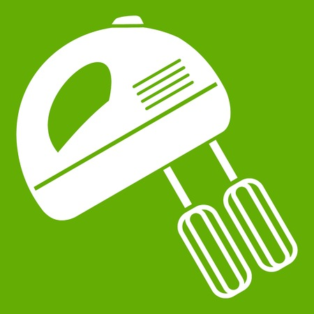 Electric mixer icon green background