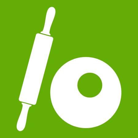 Rolling Pin Icon grün