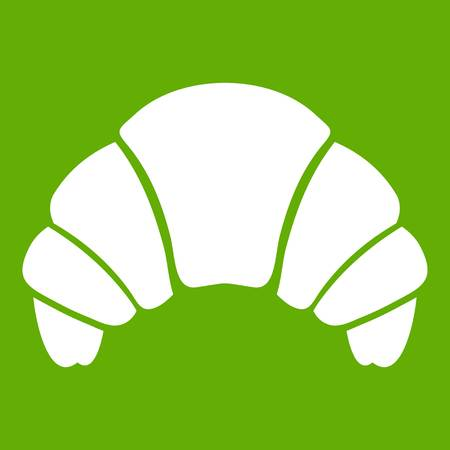 Croissant icon green.