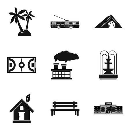Ground icons set. Simple set of 9 ground vector icons for web isolated on white background