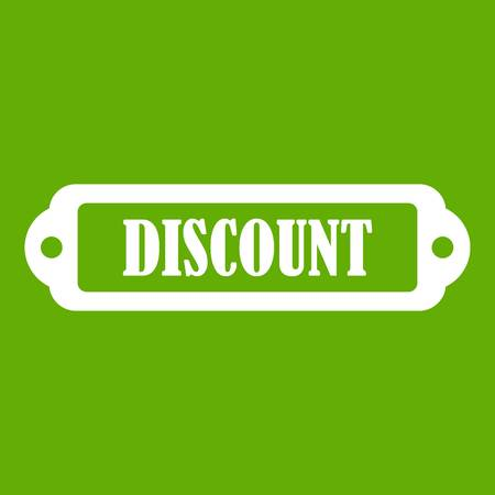 Discount label icon green Illustration