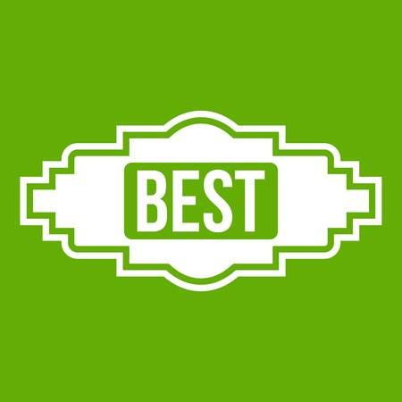 Best label icon green Illustration