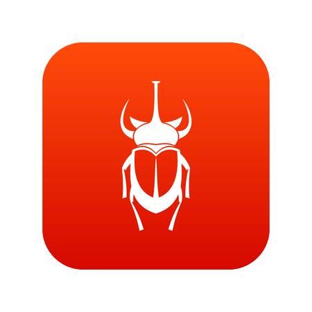 Weevil beetle icon digital red Illustration