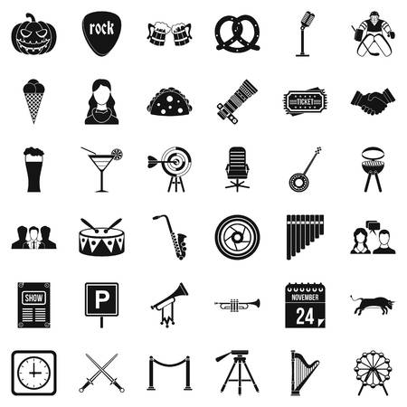 Hearing icons set. Simple set of 36 hearing vector icons for web isolated on white background