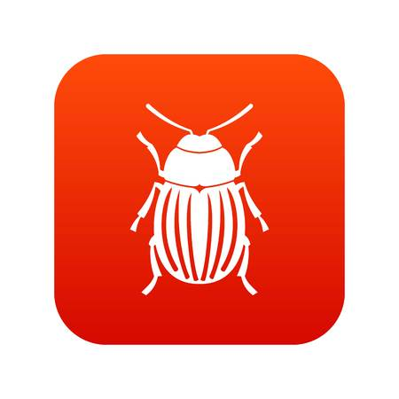 Colorado potato beetle icon digital red for any design isolated on white vector illustration Illustration
