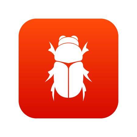 Chafer beetle icon digital red Illustration