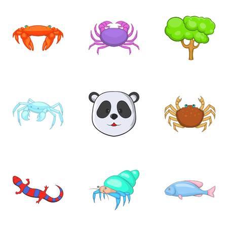 Revitalize icons set, cartoon style