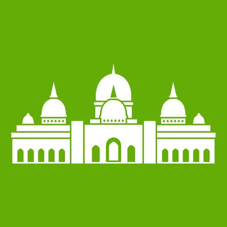 Sheikh Zayed Grand Mosque, UAE icon green background