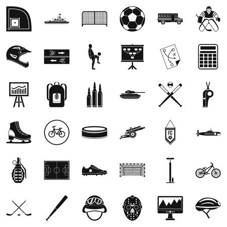 Excellent health icons set, simple style Illustration