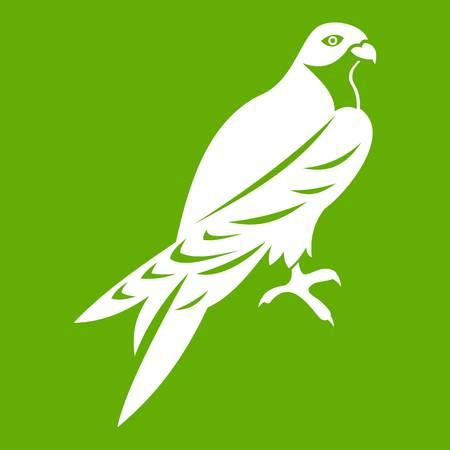 Falcon pictogram groen.