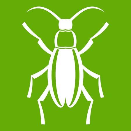 Beetle bug icon on green background