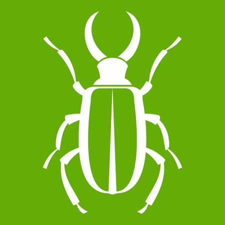Lucanus cervus icon on green background