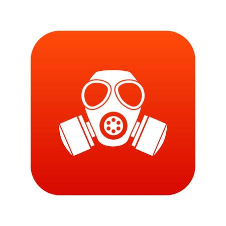 Chemical gas mask icon