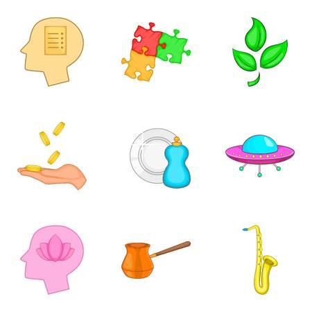 Set di icone di stato di meditazione