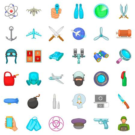 Cartoon set of 36 draft vector icons for web isolated on white background