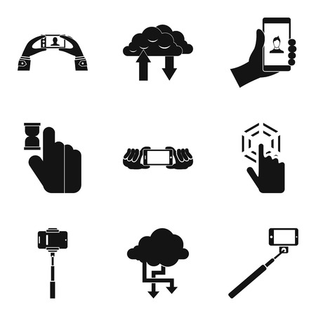 Perfect tech icons set, simple style Ilustracja