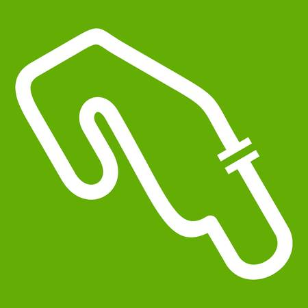 Race circuit icon green
