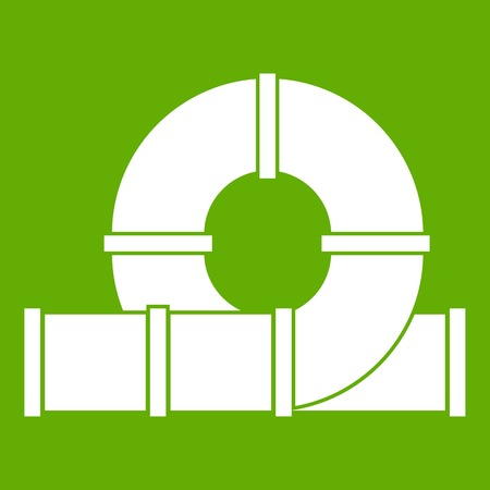 Playground slider water tube icon green