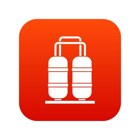 Oil refinery plant icon digital red for any design isolated on white vector illustration