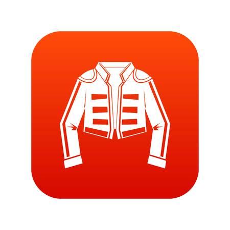 Costume di rosso digitale dell'icona del torero per qualsiasi progettazione isolata sull'illustrazione bianca di vettore