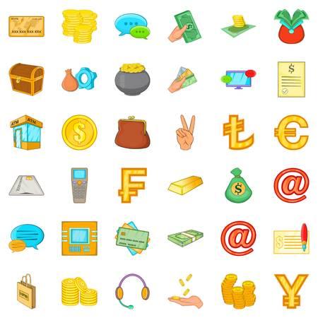 Money bag icons set. Cartoon set of 36 money bag vector icons for web isolated on white background