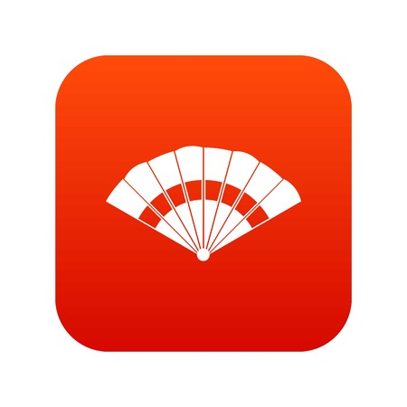 Fan icon digital red for any design isolated on white vector illustration