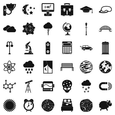 Set of space concept icons