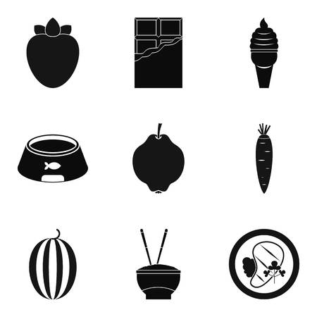 Good nutrition icons set