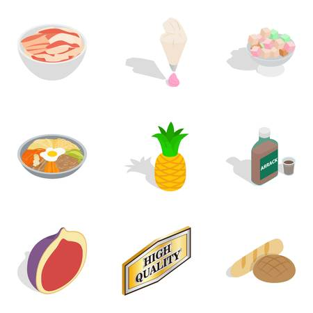 Improved nutrition icons set
