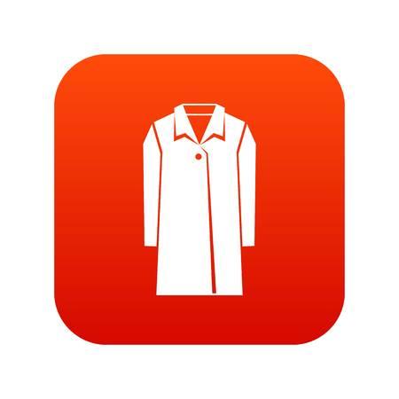 Coat icon digital red