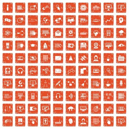 100 online seminar icons set