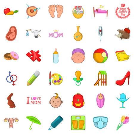 Boyhood icons set Ilustrace