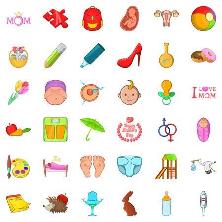 Youthful icons set
