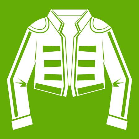 Costume of toreador icon green