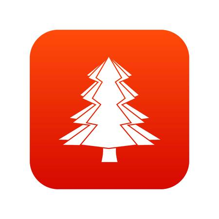Fir tree icon Illustration