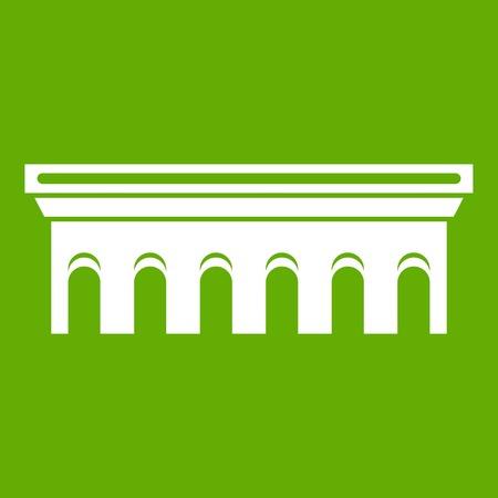 Bridge icon in green color.