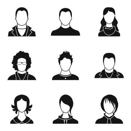 Individual person icons set, simple style illustration. Imagens - 95366061