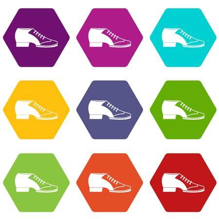 Tango shoe icon set Illustration