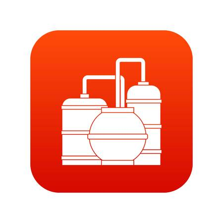 Gas storage tanks icon