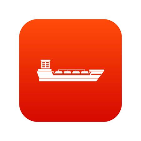 Oil tanker ship icon