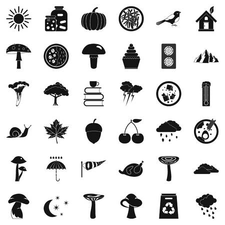 Afforestation icons set. Simple set of 36 afforestation vector icons for web isolated on white background