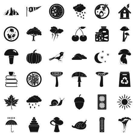 Forestation icons set. Simple set of 36 forestation vector icons for web isolated on white background