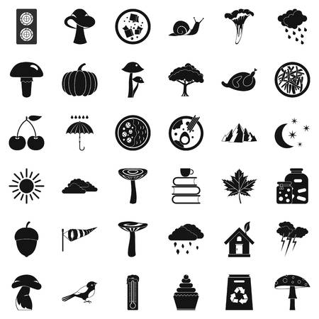 Forest plantation icons set. Simple set of 36 forest plantation vector icons for web isolated on white background